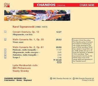 Concerti per violino - CD Audio di Karol Szymanowski - 2