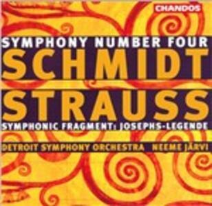 Sinfonia n.4 - Frammento sinfonico op.64a - CD Audio di Richard Strauss,Franz Schmidt