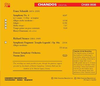 Sinfonia n.4 - Frammento sinfonico op.64a - CD Audio di Richard Strauss,Franz Schmidt - 2