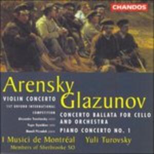 Concerti - CD Audio di Alexander Kostantinovich Glazunov,Anton Stepanovich Arensky