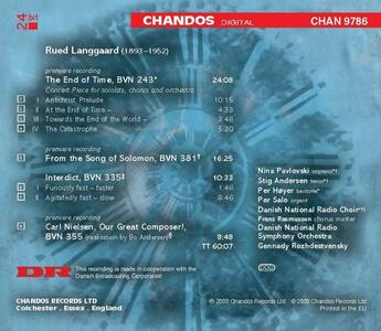 The End of Time - CD Audio di Rued Langgaard - 2