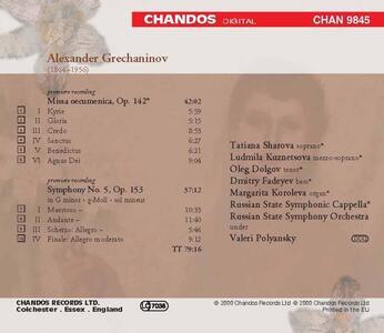 Sinfonia n.5 - Messa Ecumen - CD Audio di Alexander Tikhonovich Grechaninov - 2