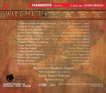 War and Peace - CD Audio di Sergej Sergeevic Prokofiev