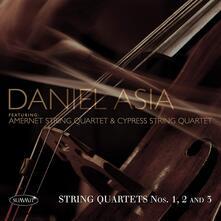 Quartetti per archi n.1, n.2, n.3 - CD Audio di Asia Daniel