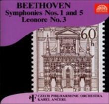 Sinfonie n.1, n.5 - Ouverture Leonore - CD Audio di Ludwig van Beethoven