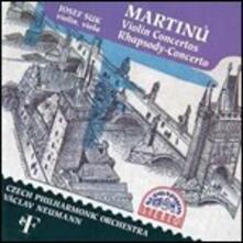 Concerti per violino - CD Audio di Bohuslav Martinu,Josef Suk,Czech Philharmonic Orchestra