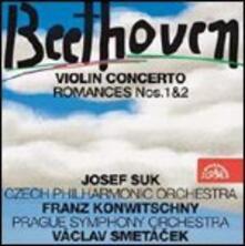 Concerto per violino - Romanze - CD Audio di Ludwig van Beethoven,Josef Suk,Czech Philharmonic Orchestra