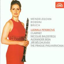 Opere per clarinetto - CD Audio di Gioachino Rossini,Felix Mendelssohn-Bartholdy,Ludmila Peterkova