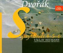 Sinfonie n.4, n.5, n.6 - CD Audio di Antonin Dvorak,Vaclav Neumann,Czech Philharmonic Orchestra