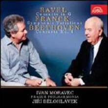 Concerto per pianoforte n.4 / Variazioni sinfoniche / Concerto per pianoforte - CD Audio di Ludwig van Beethoven,Maurice Ravel,César Franck,Jiri Belohlavek,Ivan Moravec