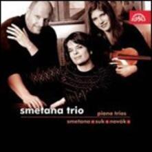 Trii per archi e pianoforte - CD Audio di Bedrich Smetana,Josef Suk,Vitezslav Novak,Smetana Trio