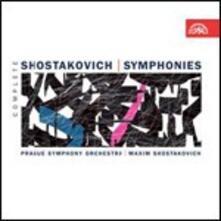 Sinfonie complete - CD Audio di Dmitri Shostakovich,Maxim Shostakovich,Orchestra Sinfonica di Praga