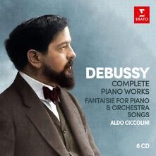 Complete Piano Works (Box Set) - CD Audio di Claude Debussy,Aldo Ciccolini
