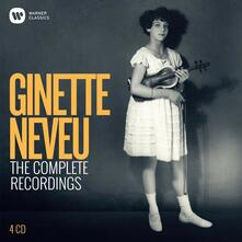 The Complete Recordings (Box Set) - CD Audio di Ginette Neveu