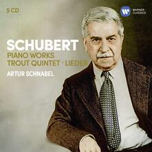 4 Impromptus - 6 Momenti musicali - Sonata per pianoforte n.20 - Divertissement (Box Set) - CD Audio di Franz Schubert,Artur Schnabel