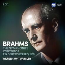 Sinfonie - Concerti - Ein Deutsches Requiem (Box Set) - CD Audio di Johannes Brahms,Wilhelm Furtwängler