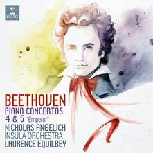 Concerti n.4 & n.5 - CD Audio di Ludwig van Beethoven,Nicholas Angelich