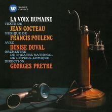 La voix humaine - CD Audio di Francis Poulenc,Georges Prêtre,Orchestra del Teatro Nazionale dell'Opera-Comique