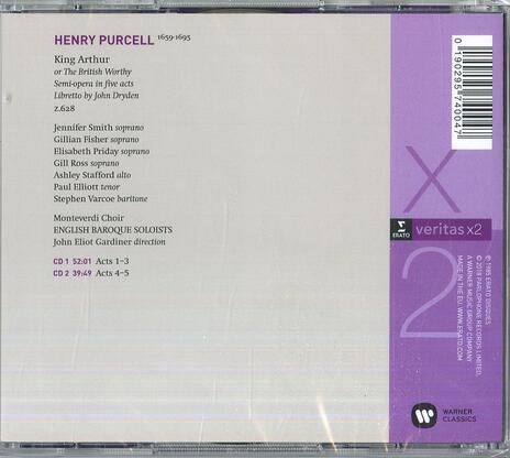 Re Artù (King Arthur) - CD Audio di Henry Purcell,John Eliot Gardiner,Monteverdi Choir - 2