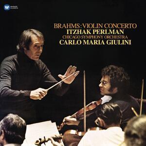 Vinile Concerto per violino Johannes Brahms Carlo Maria Giulini Itzhak Perlman