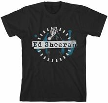 T-Shirt Ed Sheeran. Dashed Stage Photo Juniors Nero S
