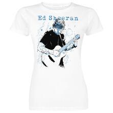 T-Shirt Ed Sheeran. Guitar Line Illustration Donna S