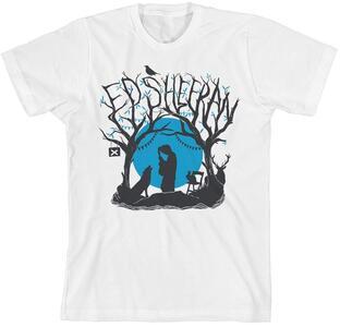 T-Shirt Ed Sheeran. Woodland Gig Slim Fit Bianco L