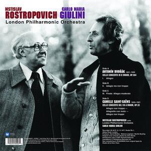 Concerti per violoncello - Vinile LP di Antonin Dvorak,Camille Saint-Saëns,Carlo Maria Giulini,Mstislav Rostropovich,London Philharmonic Orchestra - 2