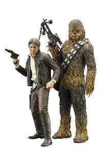 Star Wars HAN SOLO & CHEWBACCA EPVII ARTFX+ 2PK