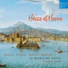 Hasse at Home. Cantate e sonate - CD Audio di Johann Adolph Hasse,Le Musiche Nove