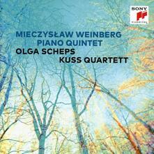 Quintetti con pianoforte - CD Audio di Mieczyslaw Weinberg,Kuss Quartet,Olga Scheps