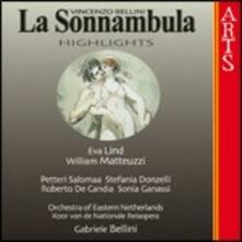 La sonnambula (Selezione) - CD Audio di Vincenzo Bellini,William Matteuzzi,Eva Lind,Gabriele Bellini