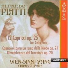 12 Capricci per Violoncello Solo Op.25 - CD Audio di Alfredo Piatti