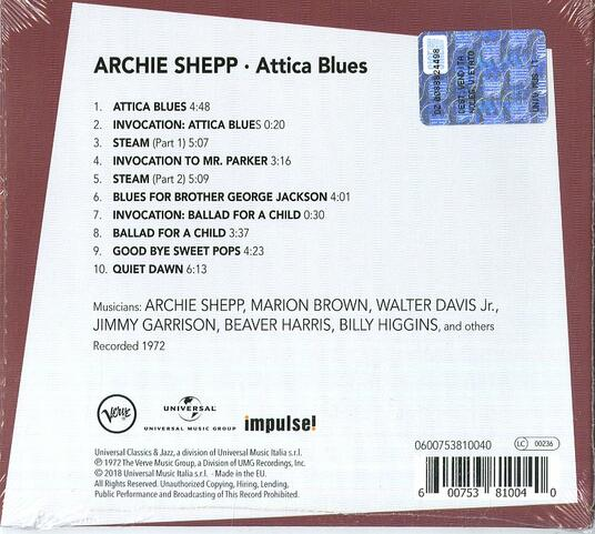 Attica Blues - CD Audio di Archie Shepp - 2