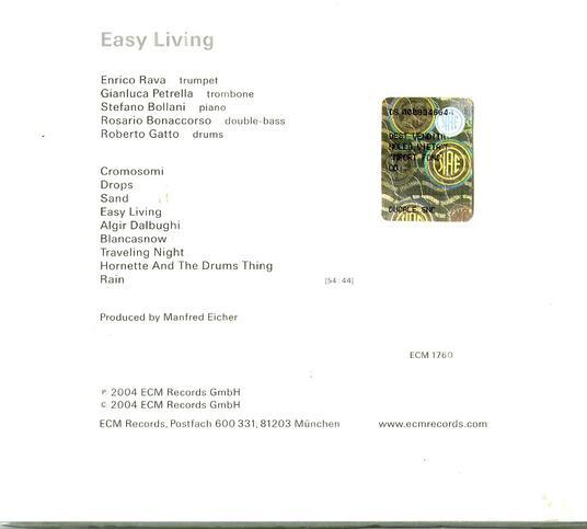 Easy Living - CD Audio di Enrico Rava - 2