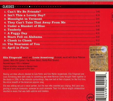 Ella & Louis - CD Audio di Louis Armstrong,Ella Fitzgerald - 2