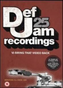 Def Jam 25. VJ Bring That Video Back (DVD) - DVD