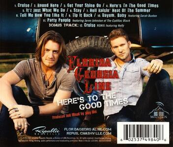 Here's to the Good Times - CD Audio di Florida Georgia Line - 2