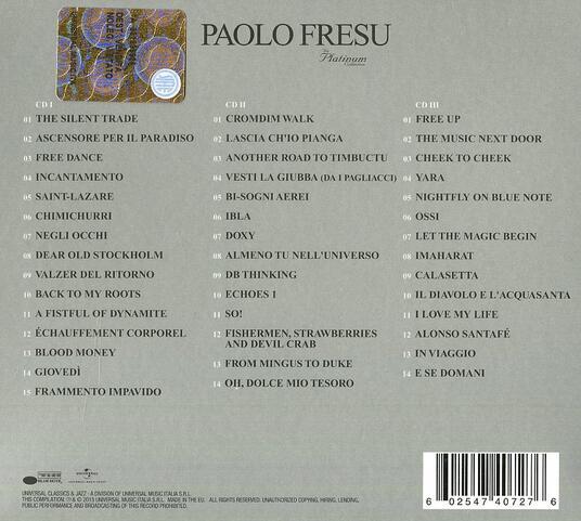 The Platinum Collection (Box Set) - CD Audio di Paolo Fresu - 2