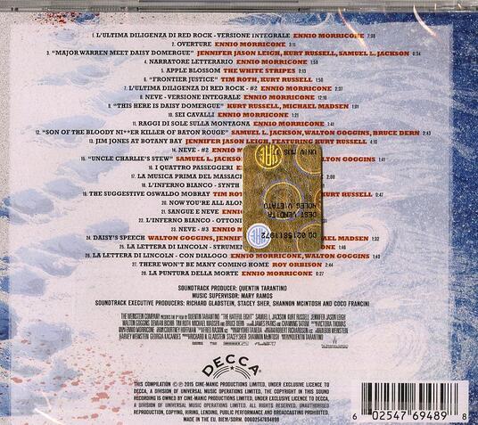 The Hateful Eight (Colonna sonora) - CD Audio di Ennio Morricone - 2
