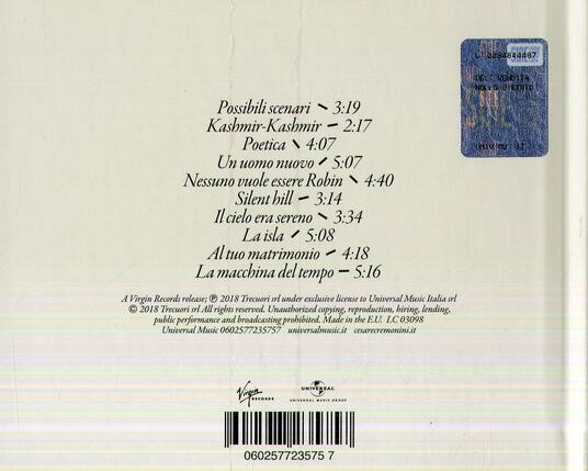 Possibili scenari per pianoforte e voce - CD Audio di Cesare Cremonini - 2