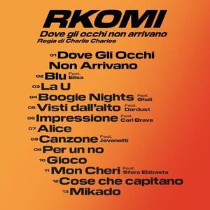 Dove gli occhi non arrivano - CD Audio di Rkomi - 2