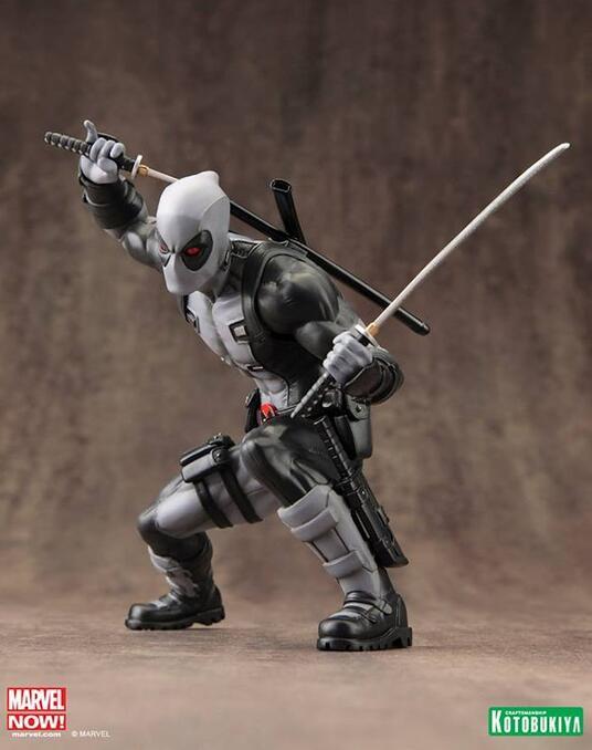 Artfx X Men Marvel Now Deadpool X Force Grey Pvc Statue New!! - 4