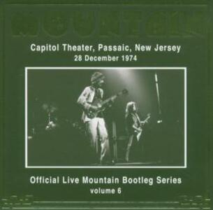 Capitol Theater Passaic, New Jersey 28 December 1974 - CD Audio di Mountain