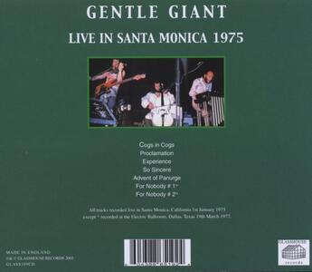 Santa Monica Freeway - CD Audio di Gentle Giant - 2