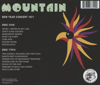 New Year Concert 1971 - CD Audio di Mountain - 2