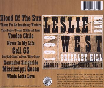 Brierley Hill Rnb 1998 - CD Audio di Leslie West - 2