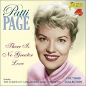 There Is No Greater Love - CD Audio di Patti Page