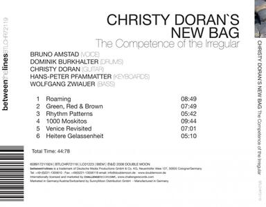Competence of The - CD Audio di Christy Doran - 2
