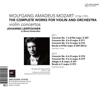 Complete Works for Violin - CD Audio di Wolfgang Amadeus Mozart - 2